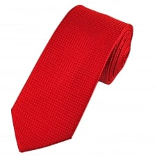 Tresanti Red Micro Check Designer Men's Silk Tie
