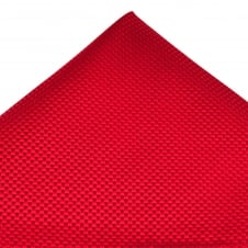 Tresanti Red Micro Checked Silk Pocket Square Handkerchief