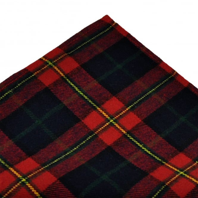 Tresanti Red, Navy Blue, Yellow & Green Checked Cotton Pocket Square Handkerchief