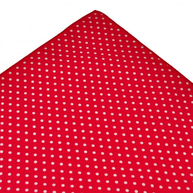 Tresanti Red & White Polka Dot Cotton Pocket Square Handkerchief