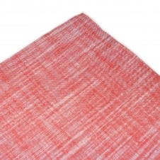 Tresanti Red with White Edge Linen Pocket Square Handkerchief