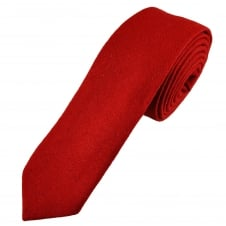 Tresanti Red Wool Blend 6cm Skinny Tie