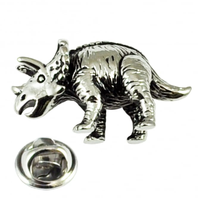 Triceratops Dinosaur Fossil Lapel Pin Badge