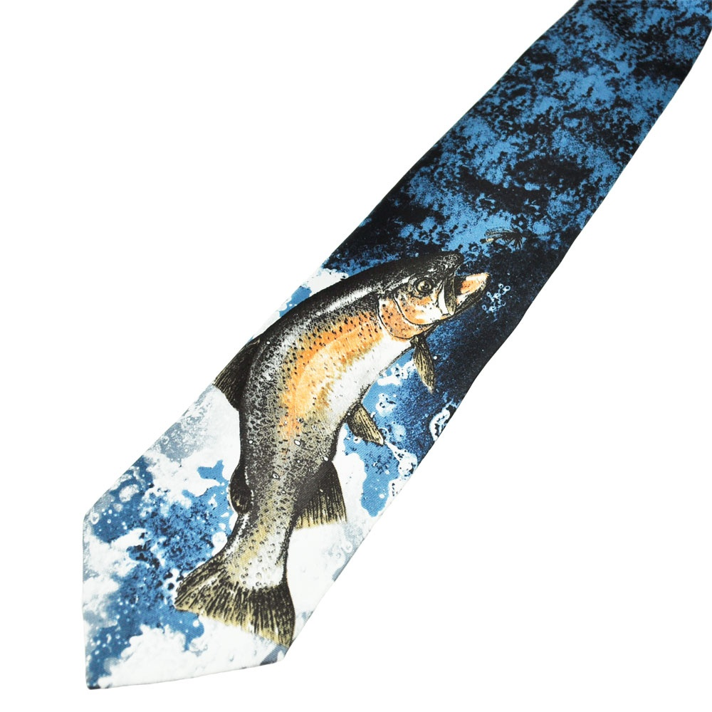trout fly fishing silk novelty tie from ties planet uk