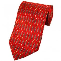 Trumpets Red Novelty Tie