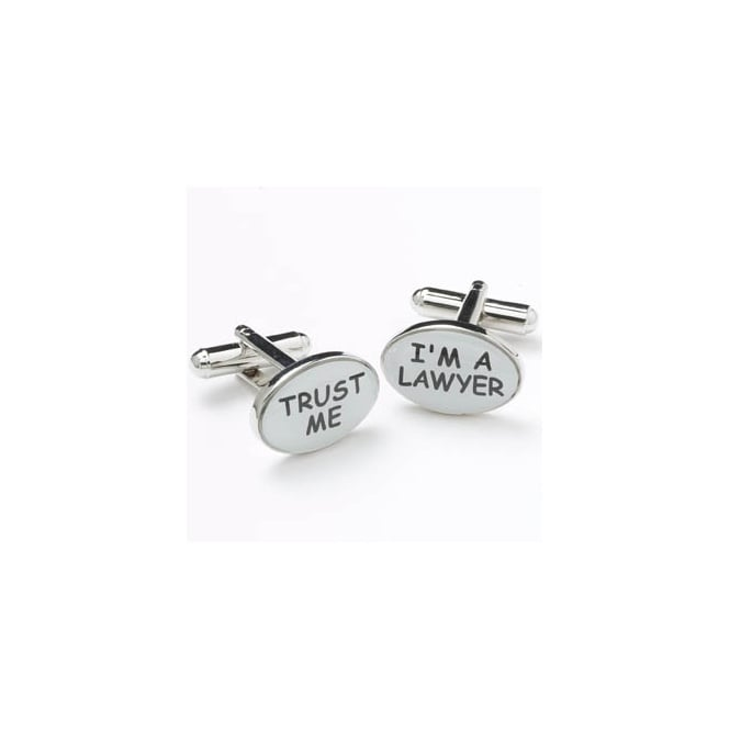 Trust Me I'm A Lawyer Novelty Cufflinks
