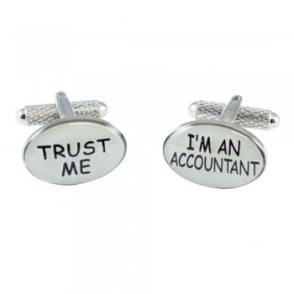 Trust Me I'm An Accountant Novelty Cufflinks