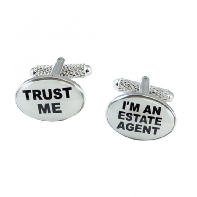 Trust Me I'm An Estate Agent Novelty Cufflinks