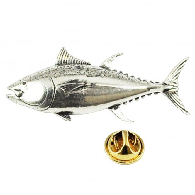Tuna Fish Pewter Lapel Pin Badge