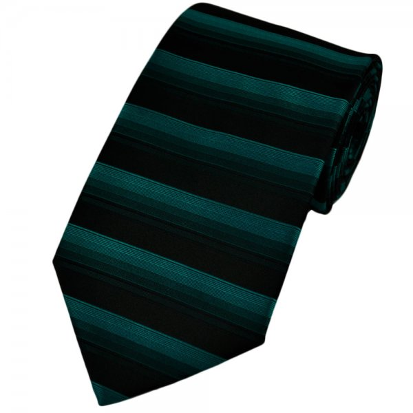 turquoise black horizontal striped tie from ties planet uk