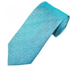 Turquoise Patterned Men's Silk Tie