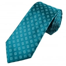 Turquoise, Sky Blue & Mint Patterned Men's Tie