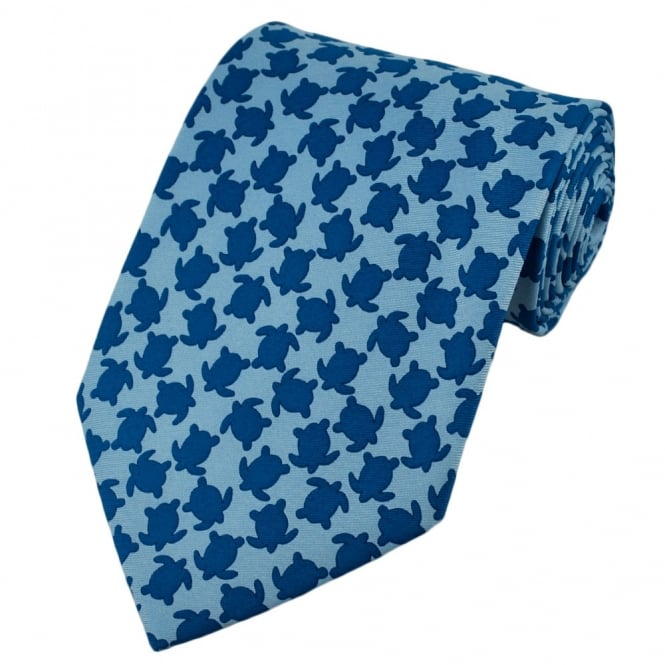 Turtles Blue Novelty Tie