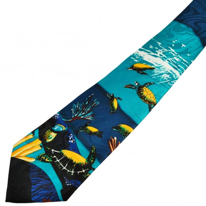 Turtles Swimming Men's Novelty Tie