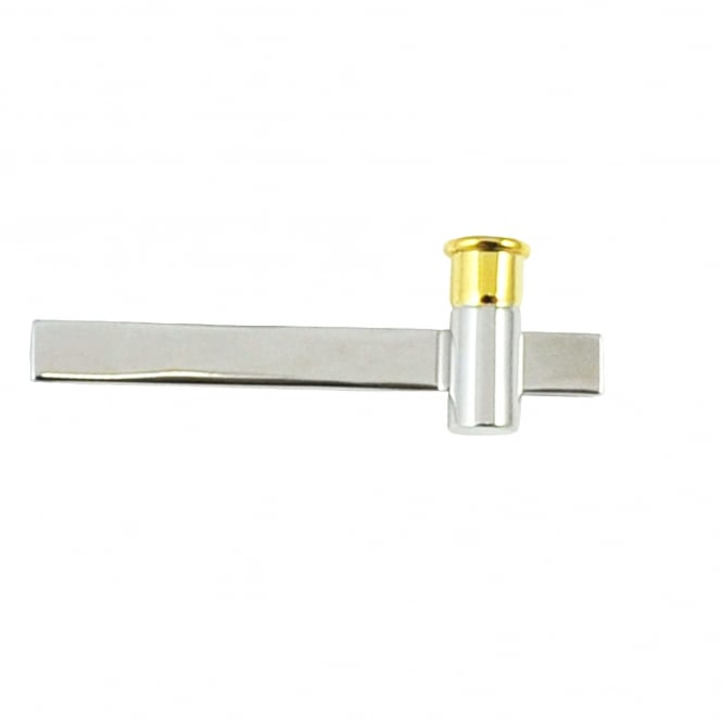Two Tone Shotgun Cartridge Cap Tie Clip