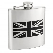 Union Jack Flag 6oz Stainless Steel Hip Flask
