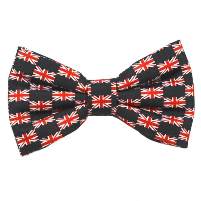 Union Jack Flag Novelty Bow Tie