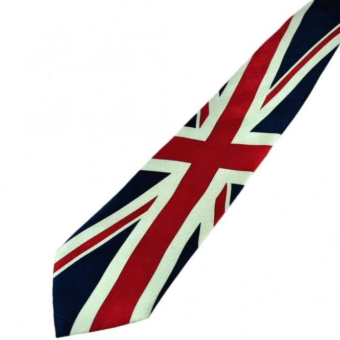 Union Jack Large Silk Novelty Tie