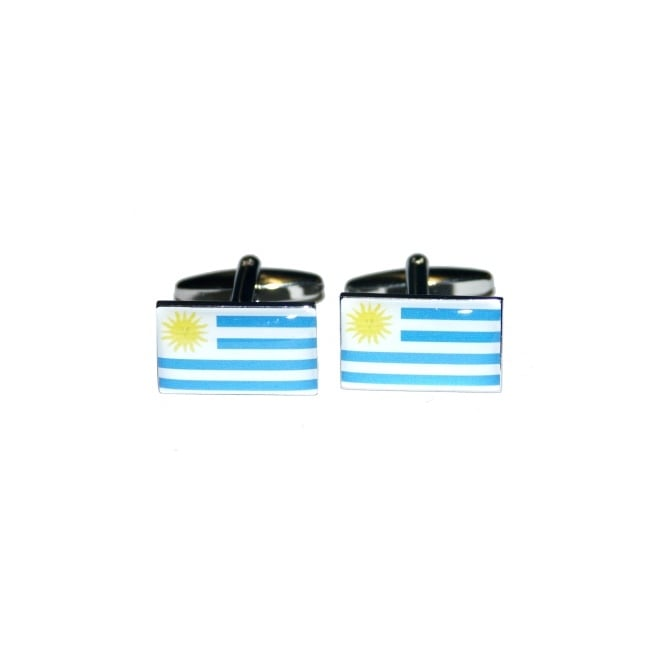 uruguay flag novelty cufflinks