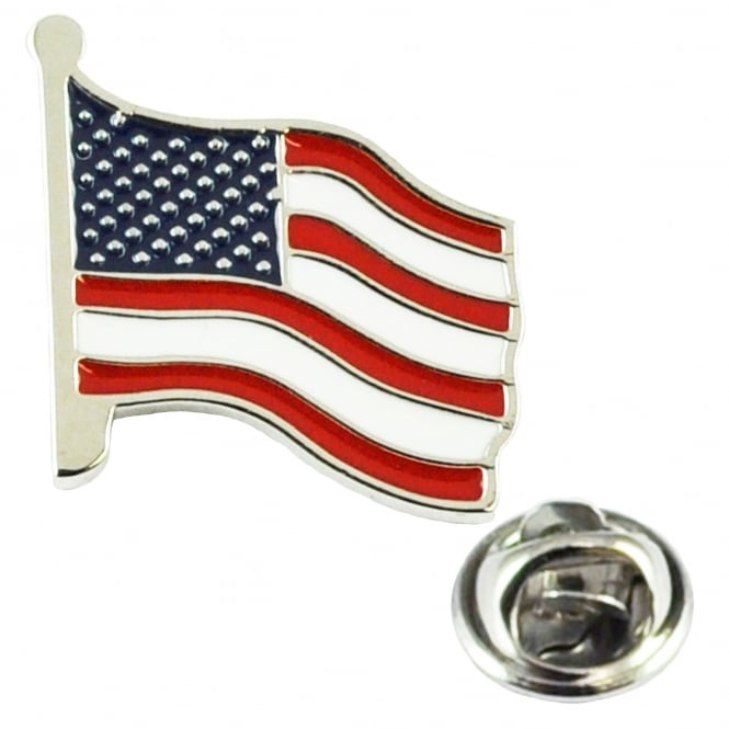 USA Flag Stars & Stripes Lapel Pin Badge