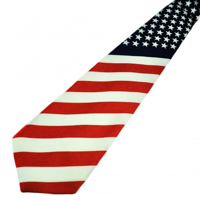 USA Flag Stars & Stripes Tie