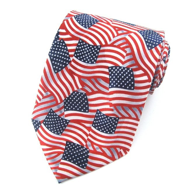 USA Flags Novelty Tie