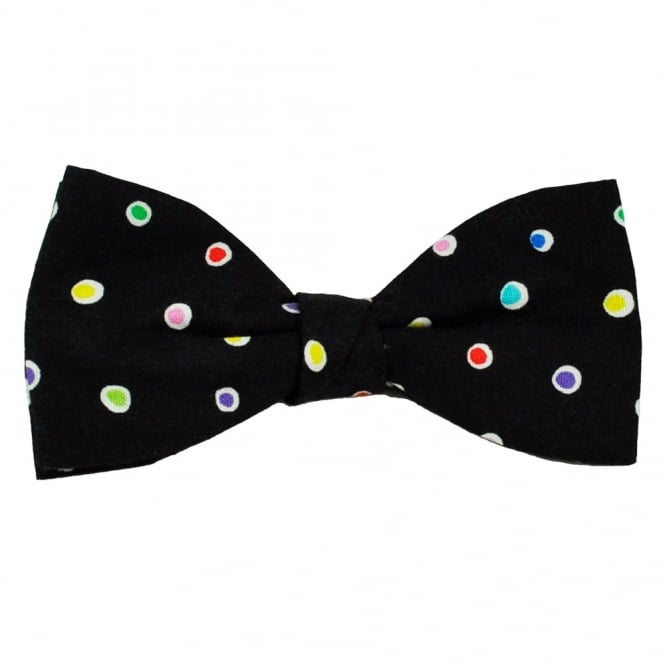 Van Buck Black & Colourful Spots Men's Bow Tie
