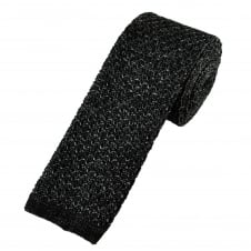 Van Buck Black Marl Pattern Designer Silk Knitted Tie