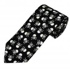 Van Buck Black & White Skull Cotton Men's Tie