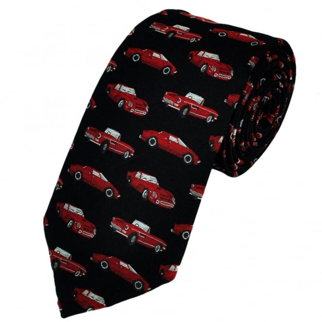 Van Buck Black with Red Classic Sports Cars Novelty Tie