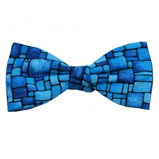 Van Buck Blue Stone Walling Novelty Bow Tie