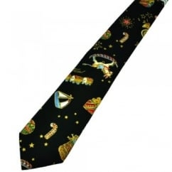 Van Buck Bottle Green Novelty Christmas Tie