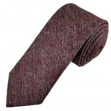 Van Buck Burgundy Check 100% Wool Tie