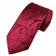 Van Buck Burgundy Paisley Patterned Men's Designer Tie