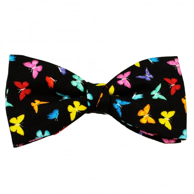 Van Buck Colourful Butterfly Cotton Men's Bow Tie
