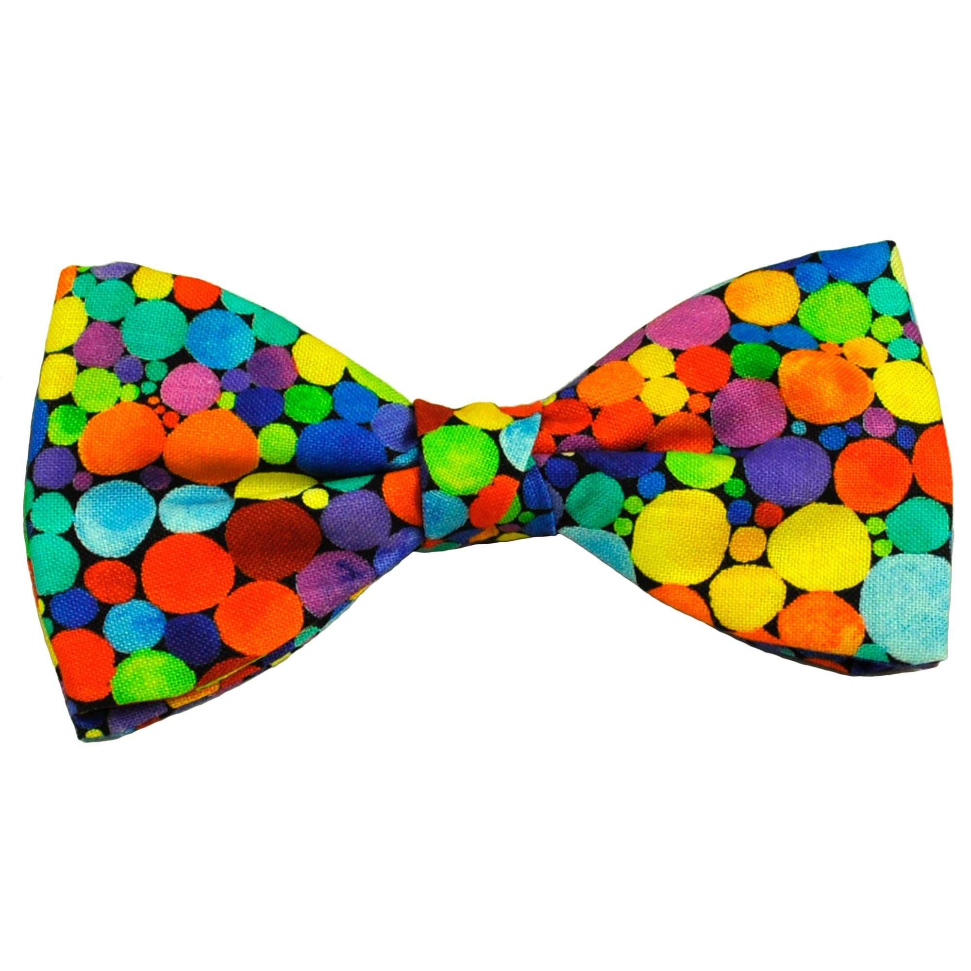 Van Buck Colourful Spots Cotton Men's Bow Tie from Ties Planet UK