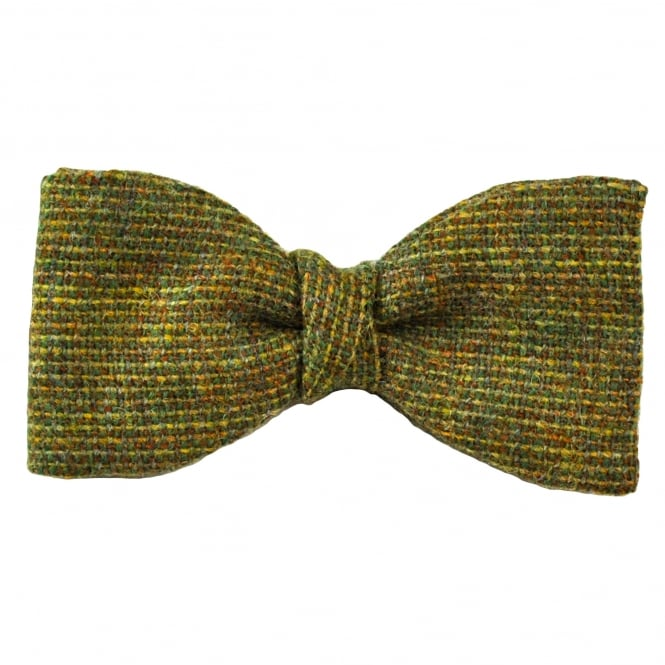 Van Buck Green Check 100% Wool Bow Tie