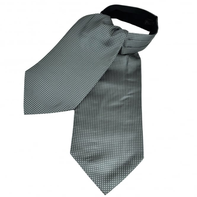 Van Buck Grey & White Polka Dot Silk Day Cravat