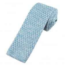 Van Buck Light Blue Marl Pattern Designer Silk Knitted Tie