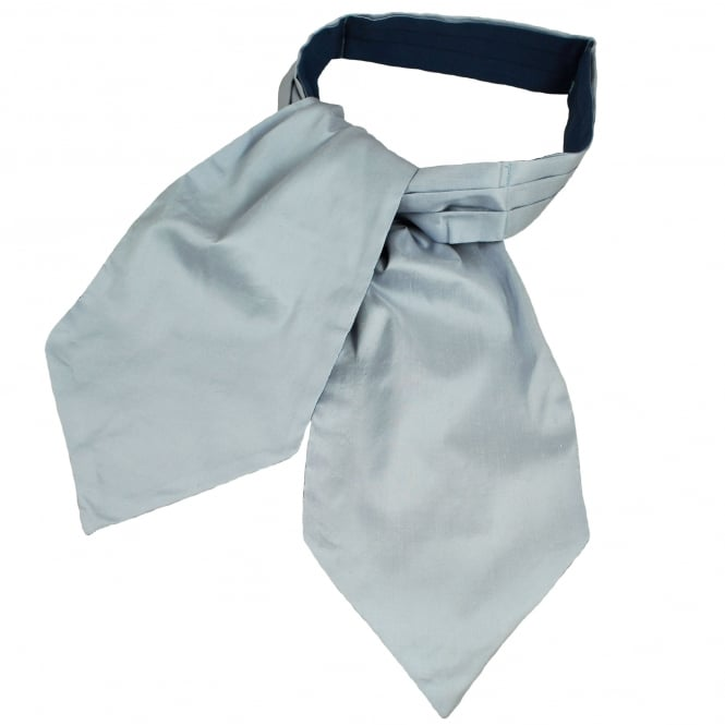 Van Buck Light Grey Slub Design Luxury English Silk Day Cravat