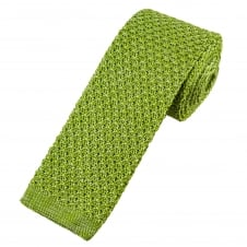 Van Buck Lime Green Marl Pattern Designer Silk Knitted Tie