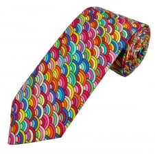 Van Buck Multi Coloured Patterned Cotton Men's Tie