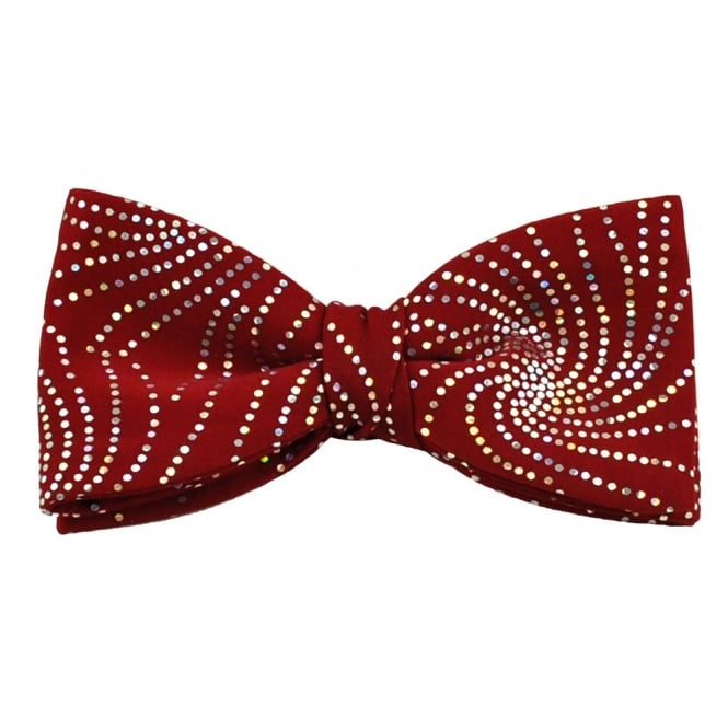 Van Buck Multi Coloured Sparkle Red Bow Tie