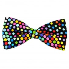 Van Buck Multi Coloured Spot Circle Pattern Cotton Men's Bow Tie