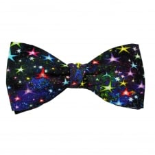 Van Buck Multi Coloured Star Pattern Cotton Men's Bow Tie