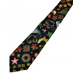 Van Buck Navy Blue Novelty Christmas Tie