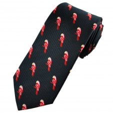 Van Buck Navy Blue, Red & Pink Parrots Men's Silk Tie