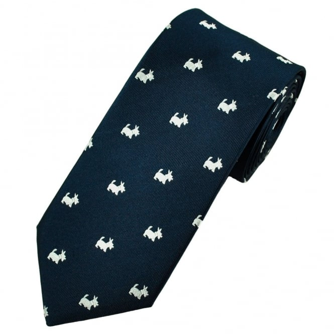 Van Buck Navy & White Scottie Dog Tie