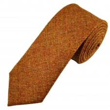 Van Buck Orange Check 100% Wool Tie