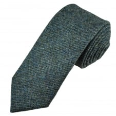 Van Buck Petrol Blue Check 100% Wool Tie